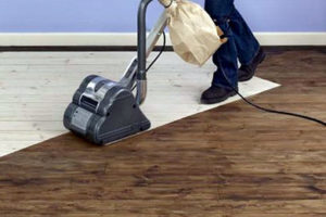 sanded wooden floors