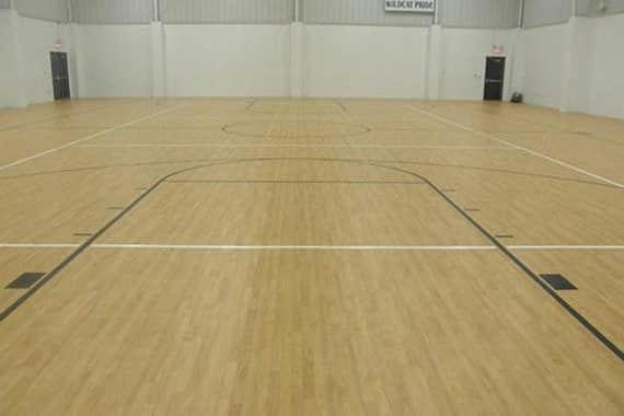 gym floor polishing buffing