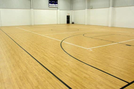 sport hall floor sanding
