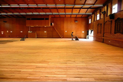 Gym Wood Floors Sanding