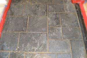stone floor polishing project