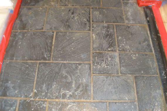 stone floor polishing project