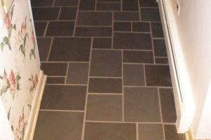 stone floor restoration project