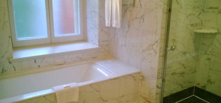 Should you put marble in kitchens and bathrooms?
