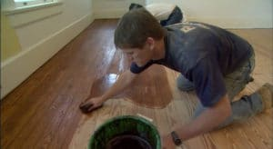 Refinish wood floor