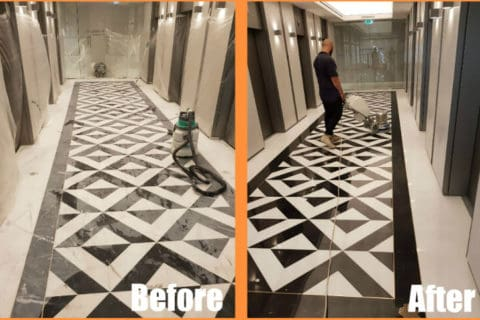 polished floors - before and after