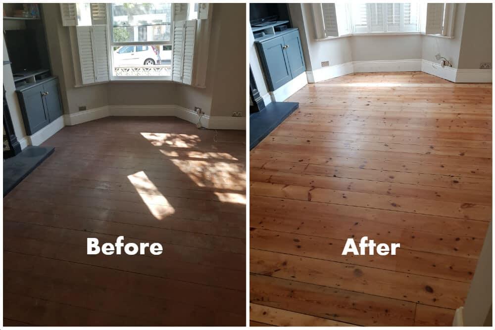 Sanding Polishing as well as Varnishing of Pine Wood Floor