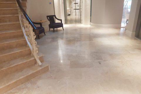 sanding, grinding marble