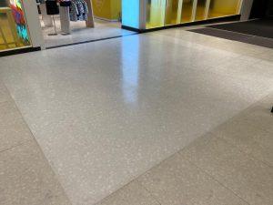 freshly polished floor