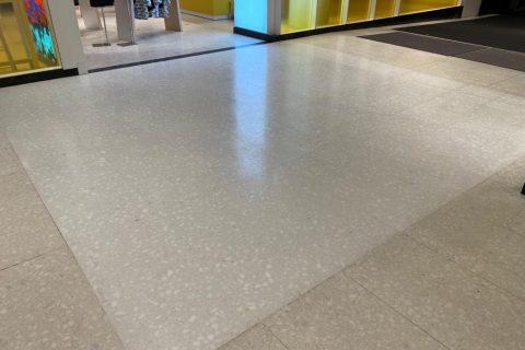 freshly polished concrete floor