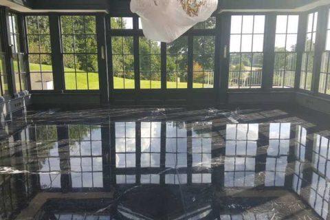restored marble floor