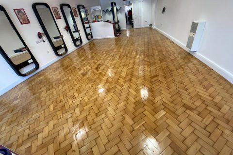 Completely restored wooden floor