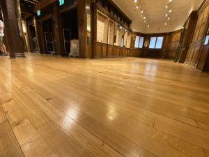 Professionally restored wooden floor