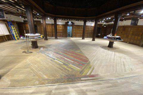 Process of wood floor restoration