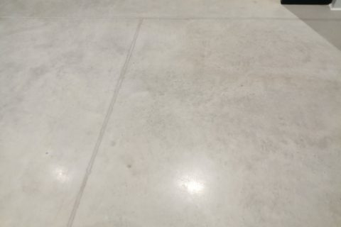 concrete polishing completed