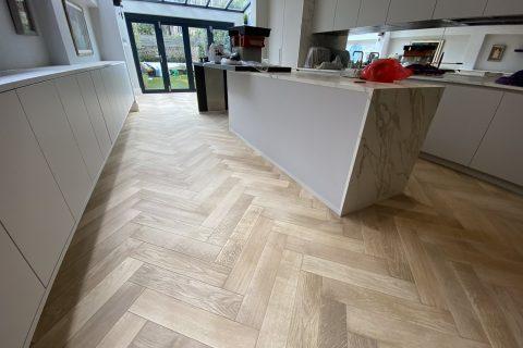 sanded wooden floor