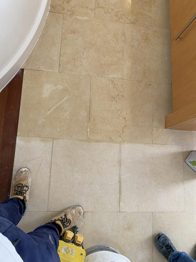 polished and non polished marble floor